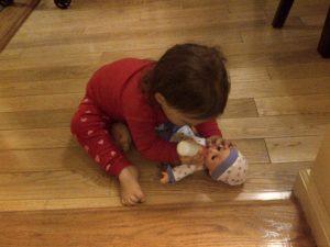 lola feeding bebe