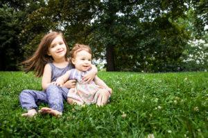 girls grass