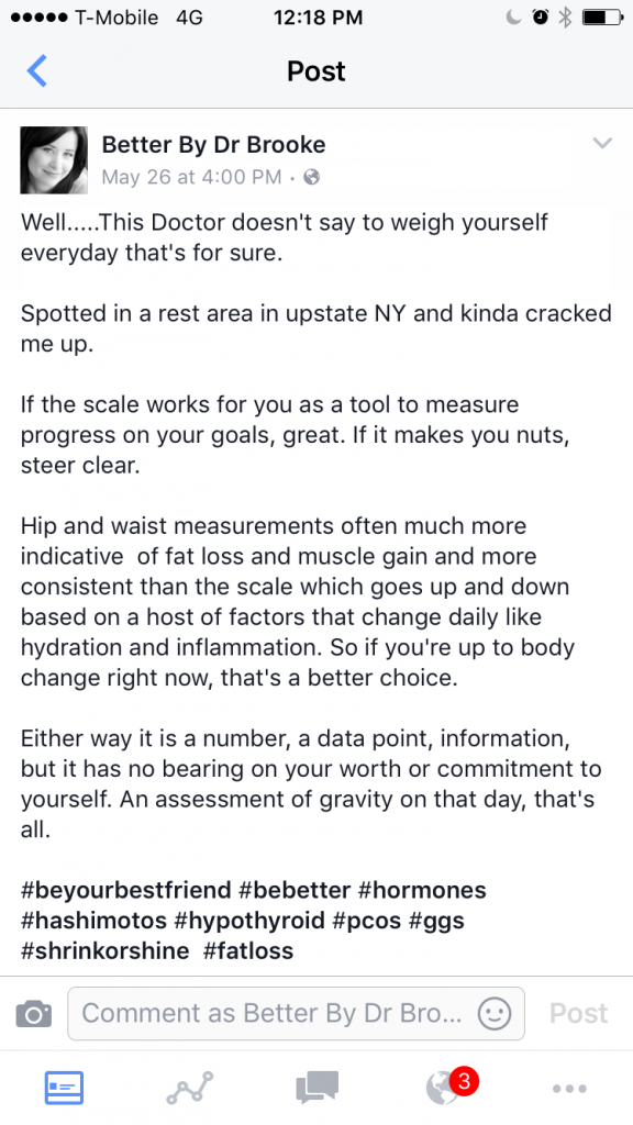 Fbook status scale